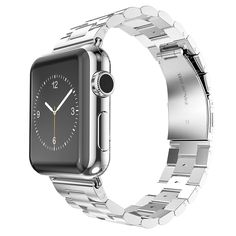 Apple Watch Strap, Oittm 38mm Apple Watch Band Stainless Steel Metal Replacement Strap Classic Apple iWatch Wrist Band with Double Button Folding Clasp for Apple Watch (38mm)