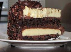 Receita de Bolo Mousse de Chocolate Preto e Branco - Bolo Mousse de Chocolate…