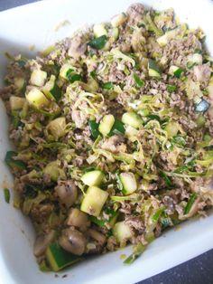 Aardappel ovenschotel met gehakt en boursin Risotto, Food And Drink, Boursin, Ethnic Recipes, Drinks, House, Zucchini, Mushroom, Drinking