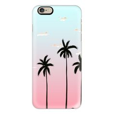 iPhone 6 Plus/6/5/5s/5c Case - L.A Sunset by Megan Roy (€36) ❤ liked on Polyvore featuring accessories, tech accessories, phone cases, iphone case, phones, iphone cases, apple iphone cases and iphone cover case