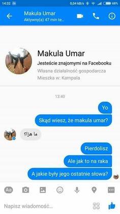 Funny Sms, Funny Text Messages, Wtf Funny, Funny Texts, Memes Humor, Jokes, Hahaha Hahaha, Polish Memes, Dark Memes