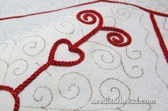 Hungarian Redwork Table Linen