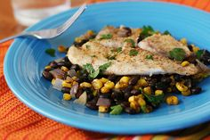 Foil Baked Fish with Black Beans and Corn - Good for lent. Another super easy recipe. You can adapt with lots of different kinds of fish.