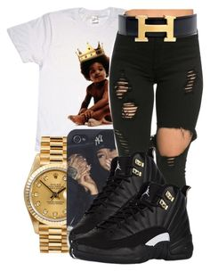 """Childish✨"" by maiyaxbabyyy ❤ liked on Polyvore featuring Big Baby, Rolex and Hermès"