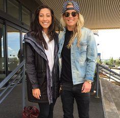 Christen Press and Ashlyn Harris. (Instagram)