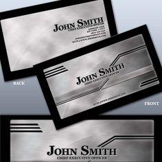 Dificilmente vemos cartões de visita de metal, isso acontece por seu alto custo e baixa quantidade de impressão e a falta de gráficas para produzir cartões