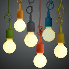 Color de silicona cuerda trenzada sola cabeza colgante de luz moderna lámpara de mesa breve decoración de la barra sin bombillas en Luces Colgantes de Iluminación en AliExpress.com | Alibaba Group