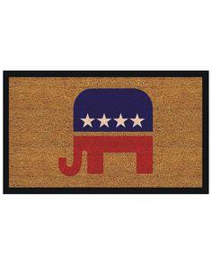 "Spotted this ""Elephant"" Doormat on Rue La La. Shop (quickly!)."