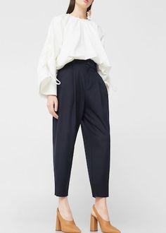 Pantalon de costume crop -  Femme | MANGO France