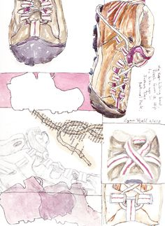 "My boot: part of a ""ten ways"" project in a class taught by Jane LaFazio."