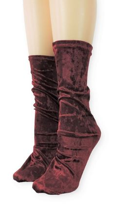 Maroon Crushed Velvet Socks is one of the comfortable socks to express your self unique and modern. Make a statement with these luxe velvet crew socks Product Details: Quality Velvet Polyester, Spandex Super Comfy and Absorbent Size US EU Item code Velvet Socks, Crushed Velvet, Crew Socks, Crushes, Comfy, Boots, Spandex, Modern, Unique