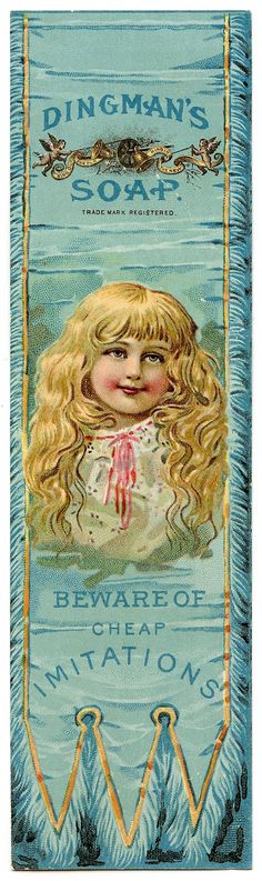 Victorian Bookmark - Pretty Little Girl - The Graphics Fairy