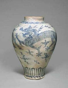 A Blue and White Porcelain Dragon Jar, Joseon dynasty, 18th century. Estimate on Request. Photo: Christie's Images Ltd 2012.
