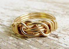 Infinity Love Knot Ring Rolled Gold 12k Celtic knot  | WestWindCreations - Jewelry on ArtFire