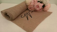 personalized burlap wedding table runner rustic by KohnenKorner, $30.00