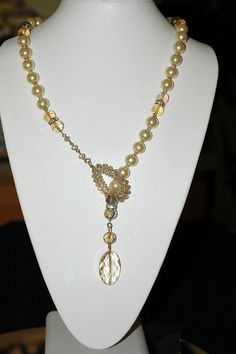 Bib Necklace  Crystal Necklace  Lariat by stylelovers on Etsy, $26.00