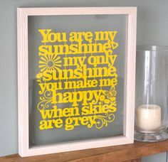'you are my sunshine' papercut by kyleigh's papercuts   notonthehighstreet.com