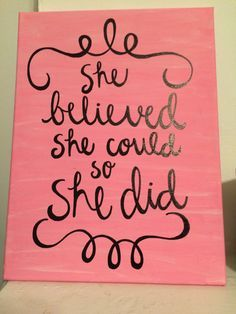 """Canvas Quote 9x12 - """"she designed a life she loved"""" - ombre, blue ..."""