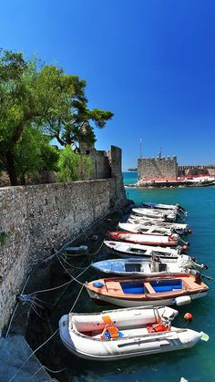 Nafpaktos Port, Greece - by Spiros Vathis Some Beautiful Pictures, Beautiful Places, Holiday Destinations, Vacation Destinations, Greek Sea, Myconos, Costa, Greece Travel, Greek Islands