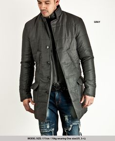 Double Layer Padding Coat Parka 14 75817