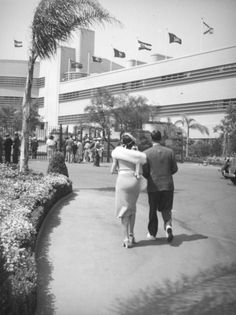A stylish couple arrives for a day at the races at Hollywood Park, 1930's. Another image from the prolific Herman Schultheis, who is currently the subject of an exhibit at the Los Angeles Public Library Central Branch.
