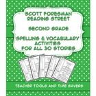** Great for Homework or Literacy Centers / Stations! **  Reading Street Common Core 2nd Grade Spelling and Vocabulary Activities for EVERY STORY! ...