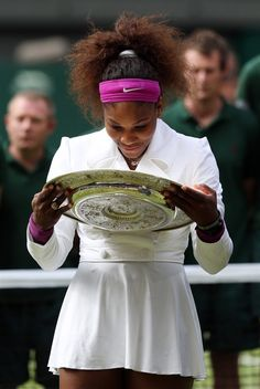 "A nice championship win for Serena Williams at Wimbledon, especially after being on the sidelines for 10 months due to a series of health scares.  Serena beat Agnieszka Radwanska of Poland, 6-1, 5-7, 6-2, to claim her 14th major championship.   One of the games in the match lasted only 49 seconds with a succession of powerful serves by Williams. ""So many aces,"" said Radwanska, ""and I couldn't do much about it.""  Photo: Johnathan Brady - EPA"