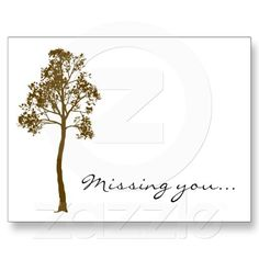Tree II Missing You Postcard