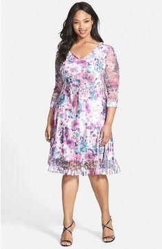 Komarov Print V-Neck Dress (Plus Size) available at #Nordstrom