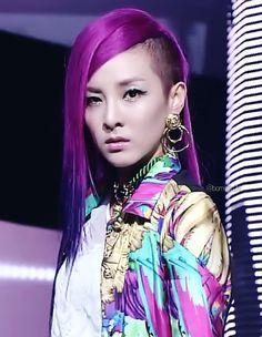 Dara hot pink and purple dip-dyed hair