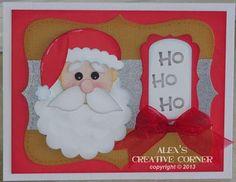 Alex's Creative Corner - Santa Punch Art Card