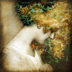 Artist: Catrin Welz-Stein {figurative abstract female head woman portrait…