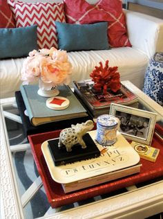 The Decorista-Domestic Bliss: secret of domestic bliss #20...a well decorated coffee table.