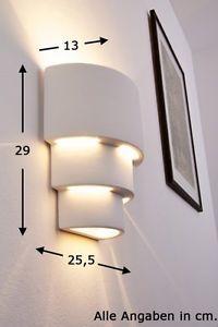 Flurlampe-Design-Leuchte-weiss-Wandlampe-Wandleuchte-Lampe-Wandstrahler-Leuchten
