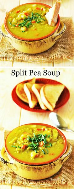 Split peas, Pea soup and Split pea soup recipe on Pinterest