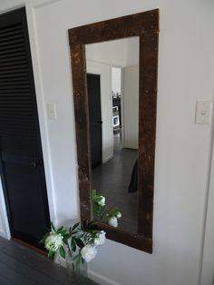 Image of Wool classing table mirror Raw Furniture, Table Mirror, Oversized Mirror, Wool, Image, Home Decor, Rustic Furniture, Interior Design, Home Interior Design