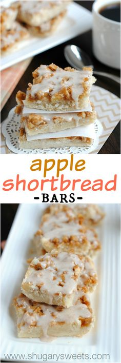 Apple Shortbread Bar