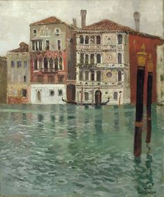 The Athenaeum - The Grand Canal, Venice (Fritz Thaulow - )