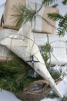 Newsprint Inspired Christmas
