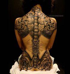 WEBSTA @ importanttattoo - By @juliogreggio - Muito obrigado Mari, por ter confiado e me deixado livre pra criar a arte da sua primeira Tattoo!! Começando com o pé direito  ⚡️#vintagetatuaria #studiotattoo #tatuagem #tatuagemfeminina #tattoodo #tattoo2me #blackandgrey #espartilho #support_good_tattooers #support_good_tattooing #ink #inked #juliogreggio #skull #caveira #marilia #sp #brasil #importanttattoo #tagforlikes #instagood #instafollow #instamood #tattoospain #backpiece #girlsw...