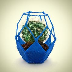Creatives handmade planters made in colorful plastic with a 3d pen, easy to care, with an exclusive and original design that will give your home a touch of green that you was looking for... An excellent choice also for gift (birthdays, for mom or a new home present and much more...)