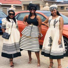 Xhosa Attire, African Attire, African Print Fashion, Africa Fashion, Best African Dresses, Traditional Wedding Dresses, Wedding Honeymoons, Blouse And Skirt, Handmade Dresses