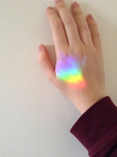 We can't have a rainbow if we don't make it through the rain. Prism Tattoo, Light Tattoo, I Tattoo, Star Tattoos, Cute Tattoos, Tatoos, Rainbow Promise, Rainbow Tattoos, Rainbow Aesthetic
