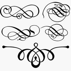 Awesome swirls and flourishes