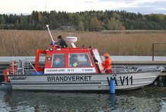 Fire brigade boat in Västanfjärd , Kemiönsaari , Finland . Finland, Boats, Fire, Ships, Boat, Ship