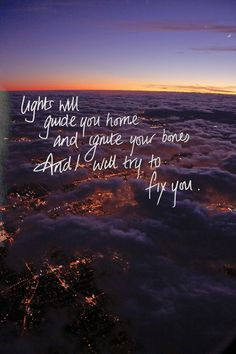 fix you - my favourite line, my favourite song