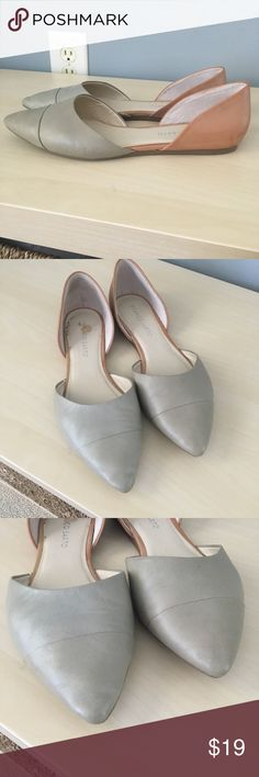 Franco Sarto Mint and Beige Genuine Leather Flats Show some signs of wear, but still have plenty of life! Very soft and comfy! Franco Sarto Shoes Flats & Loafers