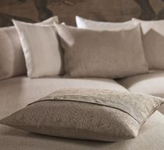 Pillow in our Farn pattern. Bed Pillows, Pillow Cases, Pattern, Pillows & Throws, Muted Colors, Fabric Patterns, Pillows, Patterns, Model