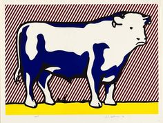 Roy Lichtenstein Bull VII, 1974, Follow #RoyLichtenstein #Pinboard on Pinterest curated by #JKLFA