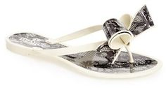 Valentino Couture Bow Thong Sandal (Women)